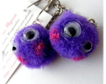 Earrings of a kind Designer [Purple Bloppies]