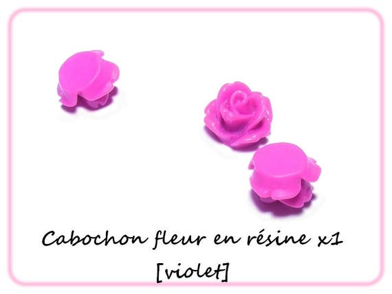 Cabochons flowers 10 mm [purple] x 1
