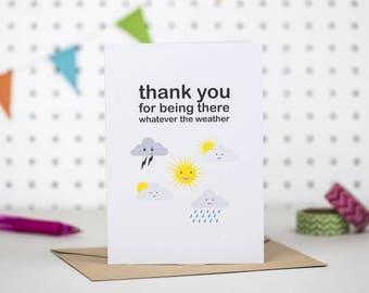 Thank you card | friendship card