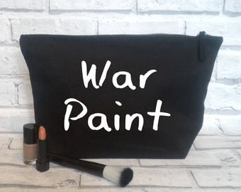 Cosmetic bag, War paint, Make-up bag, Make up pouch
