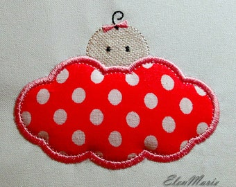 Applique Baby shower - Machine Embroidery Design 4*4, 5*5