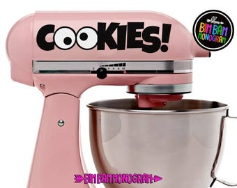 Kitchen Aid Decals - Mixer Decals - Cookie Decal - Kitchen Aid Mixer - Housewarming Gift - Kitchen Décor - Bridal Shower Gift - Mixer Decal
