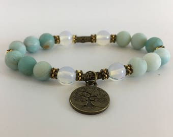 Stress relief soothe troubled nerves fertility childbirth hormones pregnancy endings beginnings moonstone amazonite protection travelers