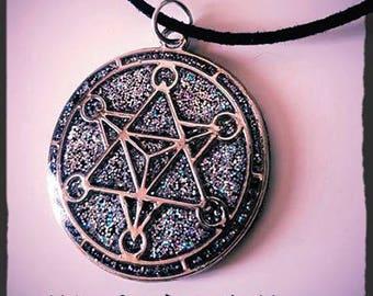 Holographic Merkaba necklace