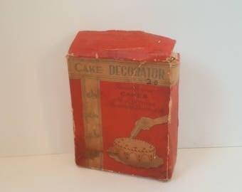 1950s Lorraine Aluminum Cake Decorator in Original Box