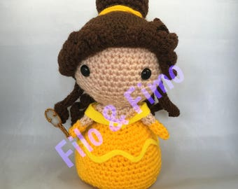 Belle - Beauty and the Beast - Chibi Doll Amigurumi