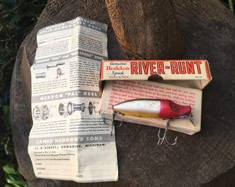 Heddon River Runt Spook Floater 9400 RHF in Box W/ Paper