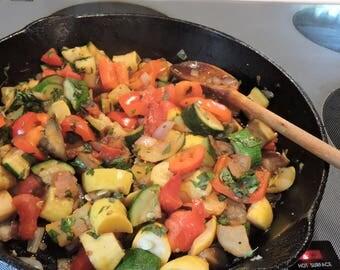 Ratatouille-Inspired Summer Veggies downloadable Eating Cleaner PDF or JPEG roasted MEDITERRANEAN vegetable side dish recipe card file