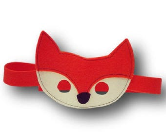 Kids costume accessory - forest - Wilfried Fox animal masks - felt