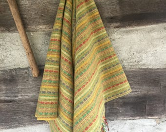 70's wool wrap/throw
