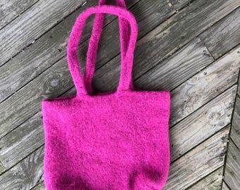 Boiled wool bag