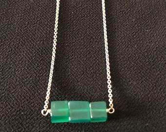 Tri Emerald Necklace