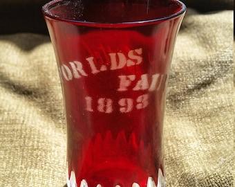 Antique 1893 Chicago World's Fair Souvenir Crystal