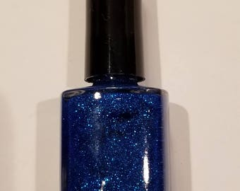 Sapphire Glitter Nail Polish
