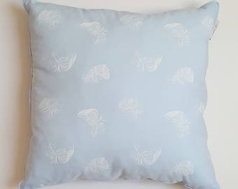 Pillow - blue feathers