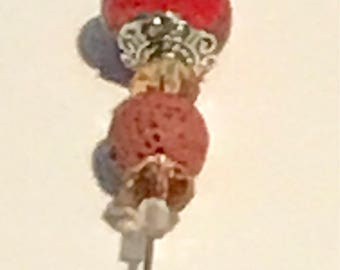 Rusty Red Hat Pin