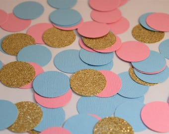 Pink and Blue Confetti, Gender Reveal Party Decorations, Gender Reveal Baby Shower Decorations, Pink and Blue Decorations, Baby Shower Decor