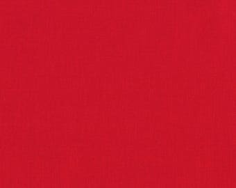 Red Kona Fabric from Robert Kaufman - quilting cotton basic KONA-RED sold