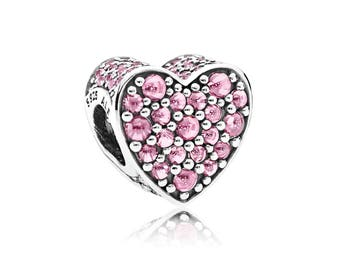 Authentic Pandora Pink Dazzling Heart Charm