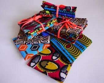 Fat Quarter Bundle of 5 African Wax Print Cottons