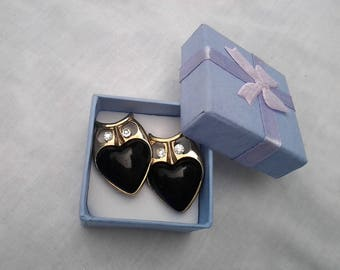 Vintage Owl Hearts Stud Earrings - Gift boxed