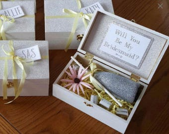 Special listing for Desiree - Black/Gold Bridesmaid & Groomsmen Boxes