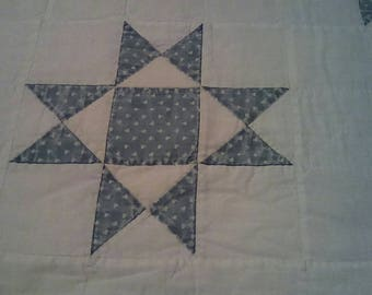 Quilt, handmade quilt, antique quilt, farmhouse antique, antique, vintage quilt, shabby chic, blue and white quilt, old quilt, vintage