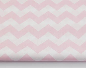 Fabric 100% cotton half a metre (50 x 160 cm), 100% cotton pink chevron zig zag