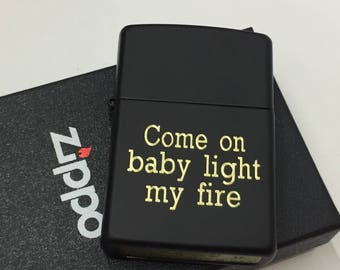 BLACK MATTE Personalized Zippo Lighter  Engraved Lighter (Best Man,Groomsmen, Valentine, Weddings, Birthdays).