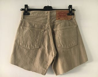 Levis 501 High Waisted Shorts Size 27/34
