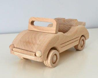 Wooden Cabriolet Toy, Wooden Car, Wood Toy Car,Natural Wood Toy, Toy for Boy,Kid's Toys,Eco Toy,Eco Friendly,Organic Toy