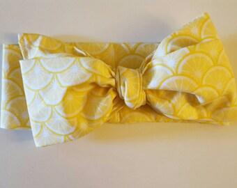 Yellow lemon headwrap