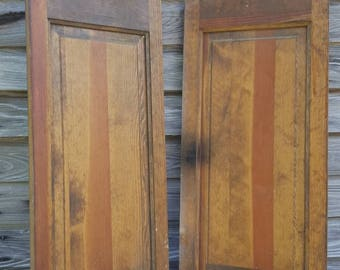 Old antique shutter door reclaimed craft decor set 38x15