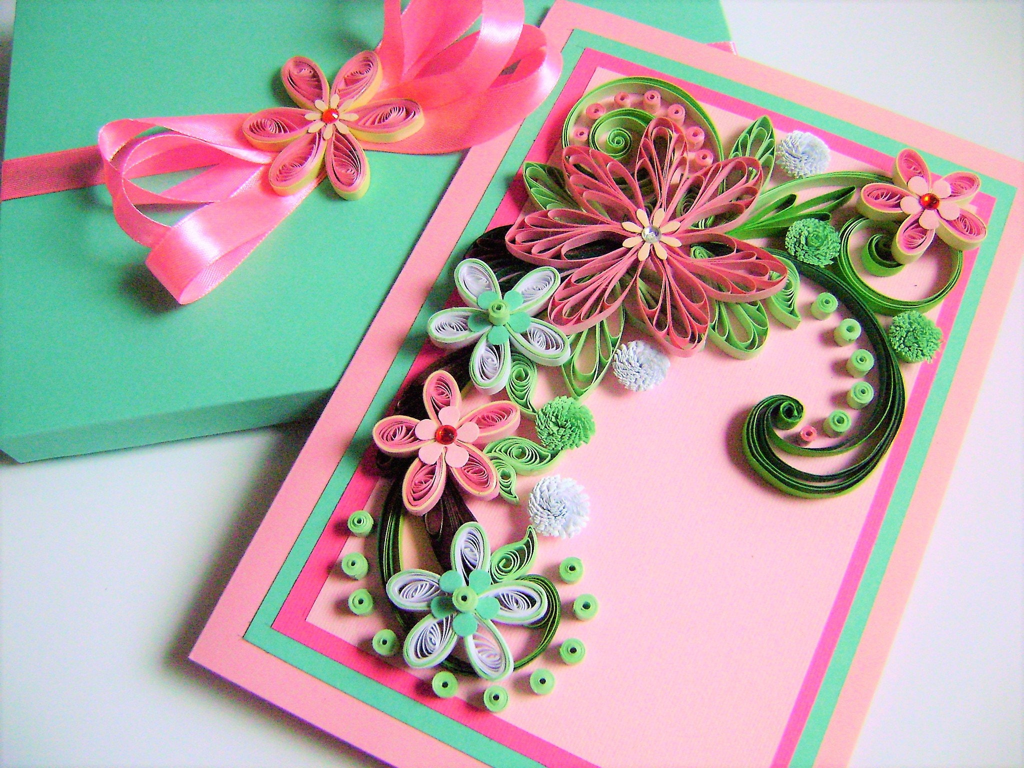 Flower wedding cardwedding invitation cardquilling greeting card flower wedding cardwedding invitation cardquilling greeting cardanniversary cardquilled kristyandbryce Images