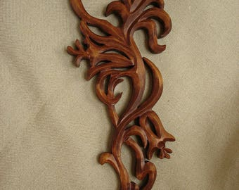 Wooden Flower,  18 inches Flower, Wood carving flower, Flower carving Wall, Handmade flower, Flower fantasy
