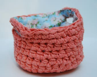 Basket, Handmade Basket, Storage Basket, Crochet Basket