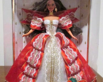 Vintage Mattel 1997 10th Anniversary Happy Holidays Barbie –NIB-17832