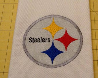 PITTSBURGH STEELERS FOOTBALL! Embroidered Williams Sonoma All Purpose Kitchen Hand Towels 20 x 30, Extra Large