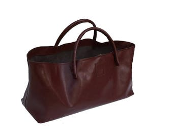 Large Leather Shopper XXL leather bag shopping bag Einkaufsshopper used look leather handmade