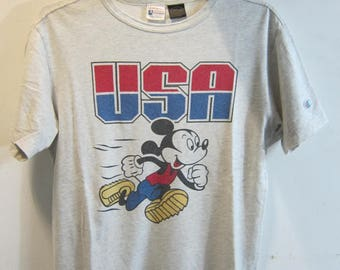 USA Mickey Mouse Champion Tee Retro Disney