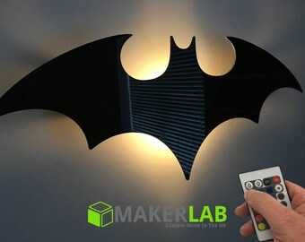 Remote Controlled LED Battery Night Light - Batman Insignia