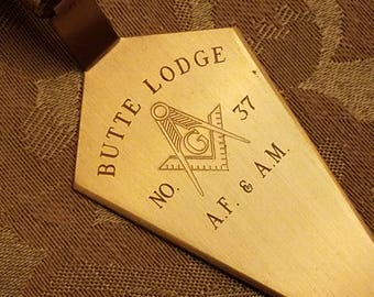 Miniature Gold Tone Mason Trowel