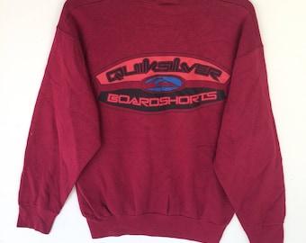 Vintage Quicksilver Boardshort Crewneck Sweatshirt