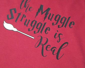 The Muggle Stuggle is Real off-the-shoulder shirt