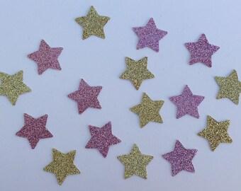 200 Star Confetti Glitter Confetti Pink Star Confetti Gold Star Confetti Gold Confetti Birthday Confetti Wedding Confetti Baby Confetti