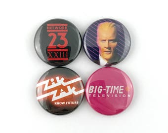 "Max Headroom - 1"" Button Pin Set"