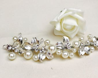 Bridal hair vine, wedding hair accessories, bridal hair accessories, bridesmaid hair vine, bridal accessories, flower girl accessories