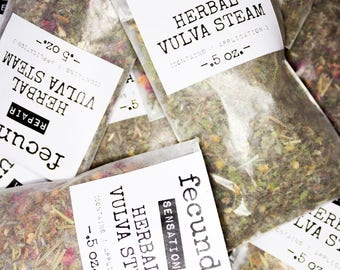 Herbal Vulva Steam Sample- Yoni Steam, Sample Set, Herbal Steam, Pelvic Care, Personal Care, V Steam, Yoni Herbs, PMS Care, Sacred Self Care