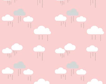 "Riley Blake Designs ""When Skies Are Grey"" Simple Simon & Co Skies-Cloud Pink"