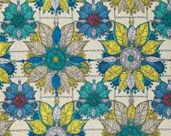 "FreeSpirit  Cotton Fabric   ""Byzantium""  in Primary by Studio KM"